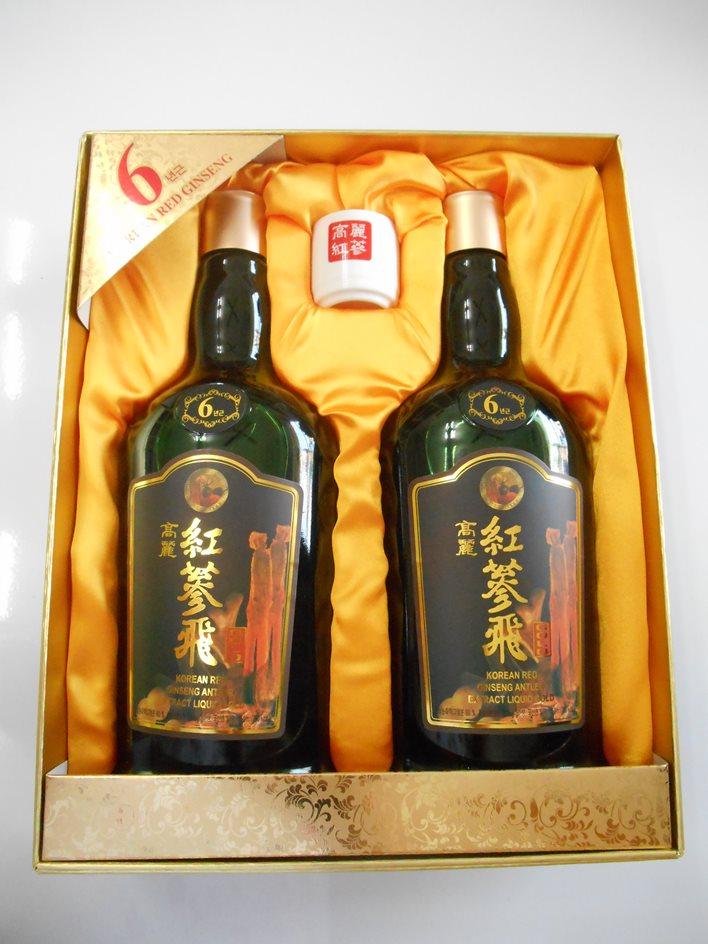 Nước Hồng Sâm Nhung Hươu Linh Chi 750ml x 2 chai