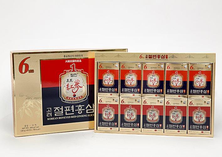 Hộp Hồng Sâm Lát Tẩm Mật 6 Tuổi KGS (200Gr) Số 1 Hàn Quốc